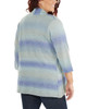 Plus Size 3/4 Sleeve Ombre Open Front Cardigan~Reiss*WSVR1190