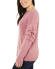 Ruffle Sleeve Drop Shoulder Crew Neck Pullover~Star Gazer*MSVU1483