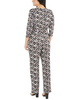 Petite 3/4 Sleeve Zipper Front Jumpsuit~Sun Dippindots*PITU6847