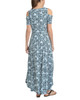 Petite Cold Shoulder High-Low Maxi Dress~Turq Hazylis*PITD3466