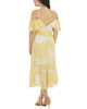 Ruffle Cold Shoulder High Low Dress~Yellow Belladot*JCCD0367