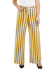 Petite Striped Tie Front Pants~Yellow Skystripe*PITP0706