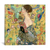 iCanvas ''Lady with a Fan'' by Gustav Klimt Gallery-Wrapped Canvas Print~1336-1PC3