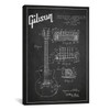 iCanvas ''Gibson Guitar Charcoal Patent Blueprint'' by Aged Pixel Gallery-Wrapped Canvas Print~ADP954-1PC3