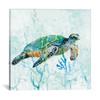 iCanvas ''Sea Turtle Swim I'' by Carol Robinson Gallery-Wrapped Canvas Print~CRO182-1PC3