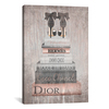 iCanvas ''Bookstack Metallic Rose Gold'' by Amanda Greenwood Gallery-Wrapped Canvas Print~GRE147-1PC3