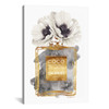 iCanvas ''Perfume Bottle, Dark Gold With Dark Grey & White Poppy'' by Amanda Greenwood Gallery-Wrapped Canvas Print~GRE180-1PC3