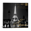 iCanvas ''Paris At Night'' by Kate Carrigan Gallery-Wrapped Canvas Print~KAC41-1PC3