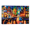 iCanvas ''The Bridges Of Amsterdam'' by Leonid Afremov Gallery-Wrapped Canvas Print~LEA87-1PC3