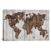 iCanvas ''Wood Map'' by Diego Tirigall Gallery-Wrapped Canvas Print~MXS94-1PC3