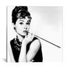 iCanvas ''Audrey Hepburn Smoking'' by Radio Days Gallery-Wrapped Canvas Print~RAD7-1PC3