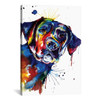 iCanvas ''Black Lab'' by Weekday Best Gallery-Wrapped Canvas Print~SNA4-1PC3