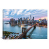 iCanvas ''Brooklyn Bridge And Lower Manhattan Skyline, New York City, New York, USA'' by Matteo Colombo Gallery-Wrapped Canvas Print~TEO20-1PC3