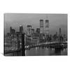 iCanvas ''1980s New York City Lower Manhattan Skyline Brooklyn Bridge World Trade Center'' by Vintage Images Gallery-Wrapped Canvas Print~VTG503-1PC3