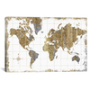 iCanvas ''Gilded Map'' by All That Glitters Gallery-Wrapped Canvas Print~WAC3210-1PC3