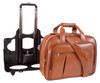 "McKlein DAMEN 17"" Leather Patented Detachable Wheeled Laptop Briefcase~8071"
