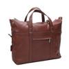 "McKlein EDGEFIELD 17"" Leather Roll Top Laptop Briefcase~8875"