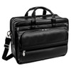 "McKlein ELSTON 15"" Leather Fly-Through Checkpoint-Friendly Double Compartment Laptop Briefcase~86485"