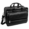 "McKlein FRANKLIN 15"" Leather Patented Detachable Wheeled Laptop Briefcase~86445"