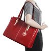 McKlein GLENNA Ladies' Leather Tote with Tablet Pocket~9755