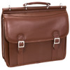 "McKlein HALSTED 15"" Leather Double Compartment Laptop Briefcase~8033"