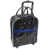 """McKlein VOLO 15"""" Leather Laptop Overnighter Wheeled Carry-On~8793"""
