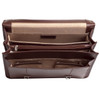 "Siamod BELVEDERE 15"" Leather Double Compartment Laptop Briefcase~25064"