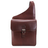 "Siamod SABOTINO 14"" Leather Vertical Messenger Bag~25414"