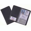 ROYCE Business Card Case File Organizer in Genuine Leather - Fits Up To 72 Cards~414-BLACK-5