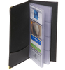 ROYCE Business Card Case File Organizer in Genuine Leather - Fits Up to 96 Cards~410-BLACK-5