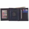 ROYCE Deluxe Passport Travel Wallet and Document Organizer in Genuine Leather~207-5