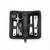 ROYCE Executive Chrome Plated Mini Manicure Grooming Kit Handcrafted in Genuine Leather~665-5