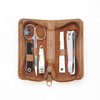 ROYCE Executive Chrome Plated Mini Manicure Kit in Leather~665-8
