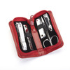 ROYCE Executive Chrome Plated Mini Manicure Kit in Aristo Bonded Leather~665-AR