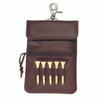 ROYCE Executive Clip On Golf Accessory Bag in Genuine Leather~672-5