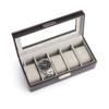 ROYCE Luxury Five Watch Display Case in Italian Aristo Leather~971-AR