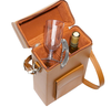ROYCE Luxury Double Wine Carrying Case in Leather with Stainless Steel Corkscrew~620-8