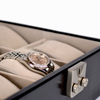 ROYCE Luxury Six Slot Watch Box Display Case~966-BLK-AR