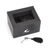 ROYCE Luxury Smart Watch Box and USB Charging Storage Unit for Apple Watch~970-BLACK-3