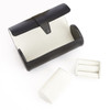 ROYCE Luxury Watch Roll and Cufflink Storage Case Handcrafted in Genuine Leather and Suede Lining~932-BLACK-5