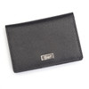 ROYCE RFID Blocking Coin and Credit Card Case Wallet in Saffiano Genuine Leather~RFID-417-BLK-2
