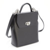 ROYCE RFID Blocking Convertible Backpack Handbag in Saffiano Leather~RFID-233-BLK-2
