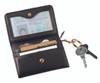 ROYCE Slim Credit Card Wallet in Genuine Leather with Key Ring~617-BLACK-5