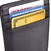 ROYCE Slim Magnetic Money Clip Wallet in Genuine Leather~814-BLK-5