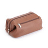 ROYCE Toiletry Travel Wash Bag in Pebbled Genuine Leather~259-6