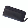 ROYCE Zippered Credit Card Continental Wallet in Genuine Leather~158-BLACK-6