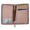 ROYCE Zippered Travel Document Credit Card Wallet in Genuine Leather~225-5
