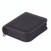 ROYCE Zippered Travel Jewelry Case in Genuine Leather~939-BLACK-6