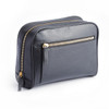 Toiletry Bag in Pebbled Leather~268-BLACK-4