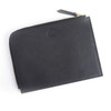 Travel Organizer Pouch in Genuine Leather~768-BLACK-4